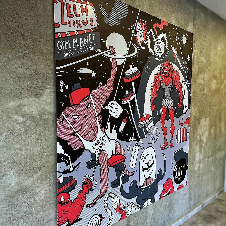yvans obraz betonová zeď